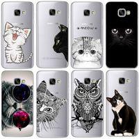 Wholesale Silicon Case Galaxy S3 - Coque For Samsung Galaxy S3 S4 S5 S6 S7 Edge S8 Plus A3 A5 2016 2015 2017 prime J1 J2 J3 J5 J7 Case TPU Silicon Cover Cat Fundas