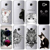 Купить Кошки Для Галактики S3-Coque для Samsung Galaxy S3 S4 S5 S6 S7 Edge S8 Plus A3 A5 2016 2015 2017 премьер J1 J2 J3 J5 J7 Корпус TPU Silicon Cover Cat Fundas