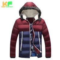 Wholesale Puffer Jacket Fur Hood - Wholesale- Parka Man Winter Jackets Mens Down Coat Outwear Warm Puffer Windproof Jackets For Male Brand-Cloting Manteau Hiver Homme MDP1525