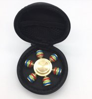 Wholesale Cooper Rubber - 2017 Stocking Fingertips Spiral Fingers 6 Heads Hand Spinner Acrylic Brass Cooper Metal Fidgets Cube 3 Minutes High Speed Free