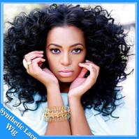 peinados rizados cortos para afroamericanos al por mayor-Venta caliente Sintetico Fibras Negro Femininas Corto Pelucas de Peinado Rizado Afro Kinky Curly Pelucas sintéticas rizadas afroamericanas negras