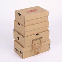 paquete de ropa al por mayor-100 psc diferentes tamaños Embalaje Marrón artesanal Caja de papel para zapatos Ropa Paquete de regalo hecho a mano Caja de correo Cajas de zapatos