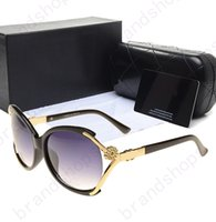 Wholesale Cheap Retro Glasses Frames - 2017 Vintage designer luxury brand designer Eyewear Sunglasses women shade Fashion cheap Retro glasses with original Zipper Case