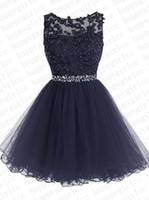 Wholesale Royal Blue Large Size Dresses - 2017New short thin soft mesh decals bride evening dress prom party multiple Colour Large size customization