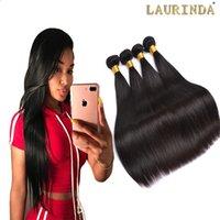 18 zoll peruanische webart großhandel-8A grade peruanisches glattes Haar Nicht Remy Haarwebart 8-30 ZOLL 100% Menschenhaar bündelt 3 oder 4 Stück kann gemischt werden