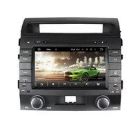Wholesale Dvd Player 1din - HD 1024*600 8inch Android6.0 1din car dvd gps for Toyota Land cruiser 2008-2012 with WIFI Bluetooth USB DVR mirror link