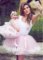 Wholesale Lace Stockings For Toddlers - 2017 Lovely Flower Girl Dresses Spaghetti Sleeveless Short Tulle Ball Gown Birthday Party Spacial Occation Gowns With Appliques For Toddler
