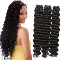 Wholesale Wholesale Bulk Virgin Indian Hair - Mongolian Malaysian Brazilian Indian Peruvian Unprocessed Human Virgin Natural Straight Body Loose Deep Wave Curly Hair Weaves Extensions