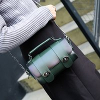 Wholesale Body Lock Cylinder - New women retro chain single shoulder messenger handbag female lock mini cylinder evening small bag no35