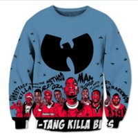 Wholesale Wu Tang Crew Neck - New Fashion Womens Mens Wu Tang Clan Funny 3D Print Casual Sweatshirt Tops Plus Size WYS0023
