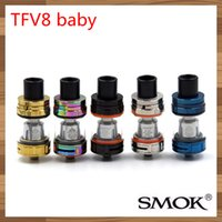 Wholesale Top Ecig Tanks - 200% Authentic Original Smok TFV8 Baby Tank 3.0ml Top Refill TFV8 Baby Cloud Beast Atomizer Newest sub ohm TFV8 Baby ecig tank