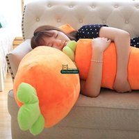 Wholesale vegetable toys - Dorimytrader Big Cuddly Soft Cartoon Carrot Plush Doll Toy Realistic Carrots Pillow Cushion Vegetables Toys 41inch 105cm DY61775