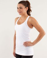 Wholesale Tank Tops For Women Yellow - Yoga Top Tanks For Women Fashion Solid Sexy Gym Sports Tees Active Wear T-shirts Shirts Sleeveless Outdoors Fitness Wear