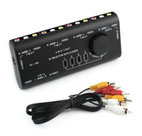 Barato Caixa De Cabo De Vídeo-4 em 1 saída AV RCA Switch Box AV Audio Video Signal Switcher 4 Way Selector com cabo RCA para televisão DVD VCD TV