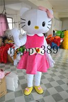 Wholesale Big Cats Mascot - 2017 new big pink of high quality Christmas Easter kt cat mascot costume adult size princess masked ball factory