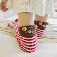 black bear socks - New Lovely Women s Stockings Velvet Knitted Stockings Autumn Winter Thick High Over Knees Panda Bear Cat Cartoon Sweet Stocking