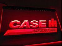 cor luz flex venda por atacado-Case International Harvest Harvester bar pub clube 3d sinais levou sinal de luz de néon