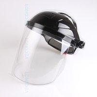 Wholesale Solar Auto Welding Mask - Solar auto darkening welding helmet semi-open solar face shield mask (transparent)