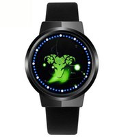 Nuovo Touch Screen LED Constellation Smart Watch in vera pelle 60 Blue Lights Uomo Ladies Waterproof Touchscreen Digital Concept da polso