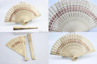 Wholesale Bridal Wedding Fans Chinese Wooden Fans Bridal Accessories Handmade Fancy Cheap Wedding Favours Small Gifts for Guests Ladies