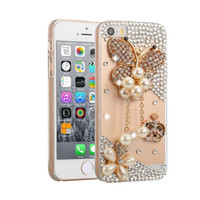 Wholesale Hard Plastic Pc Case Crystal - phone case gittering diamond rhinestone crystal pearl PC crystal hard case for iphone 7 7s 6 6s plus samsung galaxy s6 s7 edge note 7