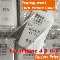 Wholesale Iphone5 For Cheap - full transparent 0.5mm thin phone case for iphone 7 iphone 6 iphone6 iphone 5 iphone5 iphon4 cheap factory price back phone case