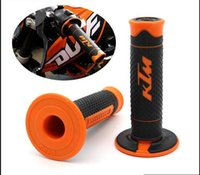 "Wholesale Pit Bike Grips - Orange KTM Handle Grip Motorcycle High Quality Dirt Pit Bike Motocross 7 8"" Handlebar Rubber Gel PRO Hand Grips Brake Hands CRF"