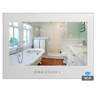 """Wholesale tv mirror glasses - 19"""" inch Hotel LED Waterproof Mirror LED Android Magic Bathroom Smart Glass Panel Mirror Hotel TV"""