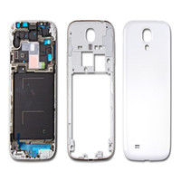 Wholesale housing full case resale online - 100PCS Full Housing Case Cover Middle frame Bezel with Side Buttons Replacements for Samsung Galaxy S4 i9500 i9505 i337 free DHL