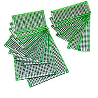 Wholesale Pcb Universal - Double sided Prototype PCB Print Circuit Board Universal Breadboard 1.6mm 2.54mm FR-4 Tin Plated for DIY Test Multi-size