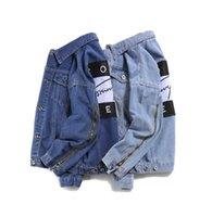 Wholesale Gradient Denim Shirts Women - fashion casual Brand jeans women tops spring and autumn harajuku summer t shirts Sweatsh men womens clothing denim jacket