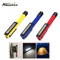 AloneFire C021 Colorful Portable Mini LED Magnet COB Inspection de travail Lampe de lumière Multifonction COB LED Mini Pen