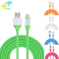kabeldatenfarbe samsung großhandel-Mode ladekabel 5 Farbe TPE 2A USB Schnellladedatenkabel Data Sync ladekabel für android samsung s7 s8 plus huawei p9