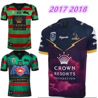 Wholesale heat jerseys - 16 17 18 NRL National Rugby League South Sydney Rabbitoh 2nd jersey High-temperature heat transfer printing jersey Rugby Shirts size S-XXXL