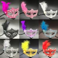parti topu venedik toptan satış-Toptan Cadılar Bayramı Tüy Masquerade Venedik Maskeleri Makyaj Parti Masquerade Ball Maskmasquerade Maskeleri Masquerade Süslemeleri Maskeleri