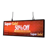 """Wholesale led 39 - 39""""x14"""" Thumb Drive Programmable Animations Full Color LED SIGN display store LOGO window sign US Stocks"""