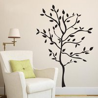 Wholesale Nursery Branch Wall Decal - Wall Sticker Simple Black Tree Branch Decals Eco Friendly PVC Water Proof Removable Stickers Living Room Home Decor 7xm F R