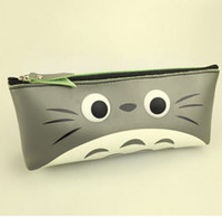 Wholesale Totoro Cosmetic Bag - Wholesale- Kawaii TOTORO 18*8CM PU Coin Pen Pencil BAG Case Pouch ; Hand Coin Wallet Cosmetics Purse BAG & Wallet Pouch