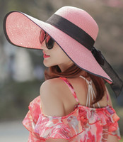 Wholesale Wide Hats - 2017 summer burst models elegant fashion bowknot wide brim hats