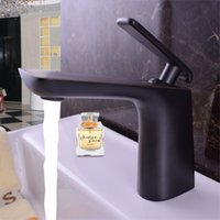 Wholesale Taps Plating Alloys - Decoration Black Basin Faucet one Handle Ceramic Valve Basin Mixer For Basin Sinks Brass Main Body And Zinc Alloy Handle Taps