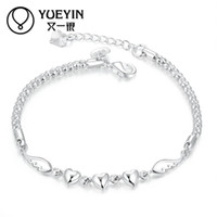 Wholesale Thin Chain Bracelets For Women - Wholesale- New fashion silver plated bracelet for women European style Jewelry thin Rope Chain hand jewelry bracelet bangle