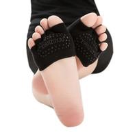 Wholesale Open Toe Socks Women - Invisible Gym Non Slip Toe Socks Open Toe No Show Hosiery Half Grip Heel Five Finger Socks #510