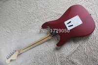 Wholesale Electric Guitar Red Deep - Chinese Factory Custom new Scalloped Fingerboard floyd rose big headstock Electric Guitar Deep red 424