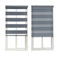 Wholesale Roller Shades Windows - Blackout Rainbow Roller Blinds Thickening Window Curtains for Living Room Bedroom Office Shutter Double Layer Zebra Blind