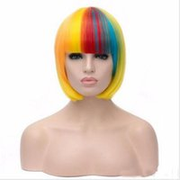 Wholesale Multi Color Cosplay Wigs - hot sale new hair style lolita Multi-Colors wig synthetic wigs cheap straight women sexy wigs natural heat resistant cosplay wig
