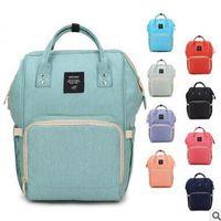 Wholesale Wholesale Baby Bags Designer - Backpacks Famous Brand Bag Fashion Designer Backpacks Mummy Diaper Bag Mom Large Capacity Desinger Nursing Bag For Baby Care 10pcs