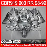 Wholesale 99 cbr fairing kit resale online - Body For HONDA CBR RR CBR900RR CBR919RR NO23 Silver flames CBR RR CBR919 RR CBR900 RR CBR RR Fairing kit Gifts