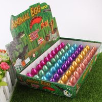 Wholesale movie inflation - Novel Water Hatching Inflation Dinosaur Egg Watercolor Cracks Grow Egg Educational Toys Interesting Gift free shipping TY2086