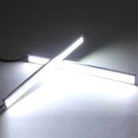 Wholesale Car Lighting T5 Bulbs - Consumer Electronics 2 Pcs White Light Bright 12V Waterproof COB Car LED Fog Driving Brake Lamp M00059 VPRD