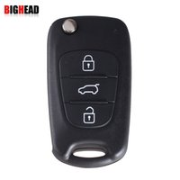 Wholesale Flip Key Auto - car BIGHEAD 3 Buttons Flip Folding Key Shell Case For KIA K2 K5 Sportage Cerato Rio Uncut Blade Remote Auto Accessories With LOGO